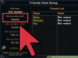 how to use clan chat in runescape 11 steps with pictures