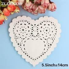 heart doily zldecor 5 5 white heart paper lace doilies placemat craft