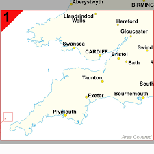 southwest england and south wales cardiff and bristol postcode