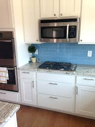 Green Glass Tiles For Kitchen Backsplashes Blue Green Glass Tile Backsplash Kitchen White Kitchen With Glass