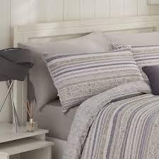 hadlow seersucker stripe natural duvet cover set dove mill