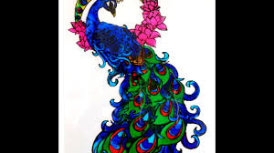 glass painting of a peacock youtube