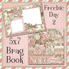 5x7 brag book just so scrappy noel 5x7 brag book freebie day 2 scrapbooking