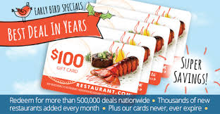 gift card specials specials by restaurant 5 100 restaurant gift cards for 76