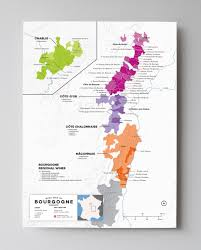 Map Of France With Cities by France Bourgogne Wine Map Wine Pinot Noir And Burgundy Wine Map