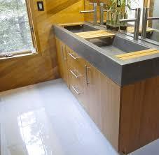 vanity shelf light brown ceramic tile flooring multiple wooden