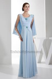 Light Blue Chiffon Dress Full Length Light Sky Blue Chiffon Prom Gown Evening Dresses