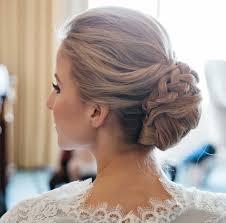 hair updos for weddings medium length bridal updo on shoulder
