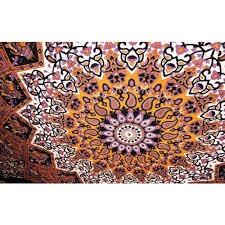 star elephant tapestry twin purple star mandala wall hanging