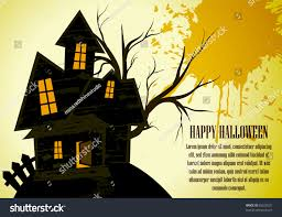 vector halloween haunted house composition stock vector 85250221