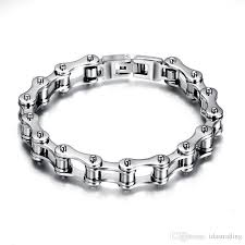 metal mens bracelet images Online cheap punk 316l stainless steel bracelet men biker bicycle jpg