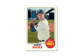aaron hicks 2017 topps heritage baseball base poster to 99