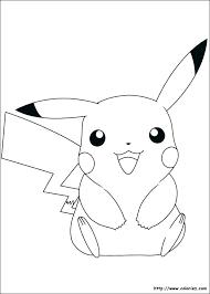 Coloriages Pikachu Coloriage Pokemon Pikachu Mignon  skzoznaminfo