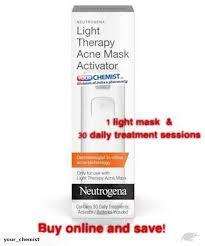 neutrogena light mask activator neutrogena light therapy activator 30 of 10 minutes sessions