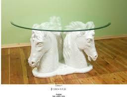 Wohnzimmer Tisch Deko 3 Köpfe Pferd Couchtisch Pferde Tisch Wohnzimmertisch Deko König