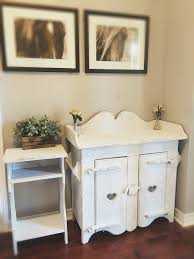 rustic vintage white babyroom furniture baby changing table
