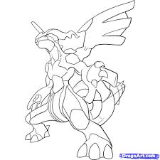 Coloriage de pokemon legendaire zekrom