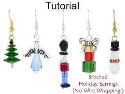 beginner earrings christmas earrings beading tutorial easy beginner project no