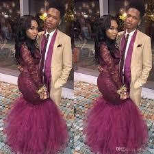 modest burgundy african prom dresses 2017 high neck long sleeved