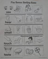 five senses body parts the five body parts and printable worksheets
