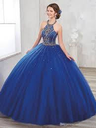 dress for quincea era golden beaded navy halter quinceanera dresses gown with jacket