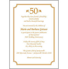 anniversary party invitations 25 personalized 50th wedding anniversary party invitations ap