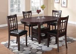 Espresso Dining Room Furniture Galaxy Furniture Chicago Il Lavon Espresso Dining Table W 4 Side