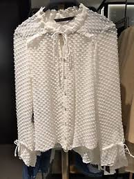 swiss dot blouse zara dotted swiss blouse white xs xl ref 2145 118 ebay