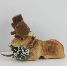 Christmas Deer Decorations Indoor by Christmas Reindeer Decoration Foam Reindeer Natural Fiber Reindeer