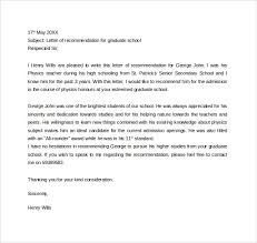 School No Letter Of Recommendation Brilliant Ideas Of Letter Of Recommendation For Graduate School