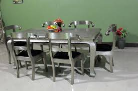 Metal Dining Room Tables by Buy Online Embossed White Metal Dining Set White Metal Dining