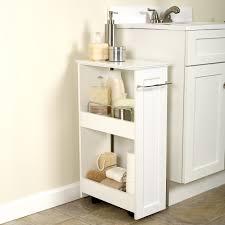 Bathroom Storage Organizer by Slimline Wood Rolling Organizer Walmart Com