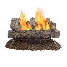 Log Decor Fireplace Logs Fireplaces The Home Depot