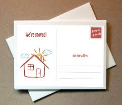 new address cards moving announcements fill in