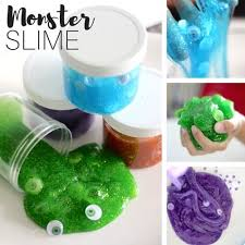Soda Bottle Monsters Totally Green - monster slime recipe with clear glue and google eyes activity
