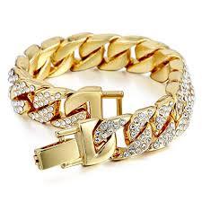 cuban chain bracelet images Mens womens cuban link bracelet hip hop bracelet jpg