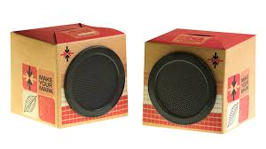 cardboard speakers design on behance