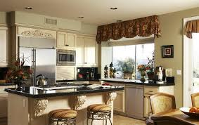 Window Treatment Valances Kitchen Window Treatment Ideas Faux Wood Blinds For The Kitchen