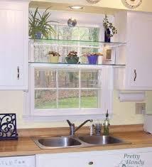 Kitchen Window Decorating Ideas Open Kitchen Shelves And Stationary Window Decorating Ideas