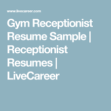 receptionist sample resumes sample resume for secretary