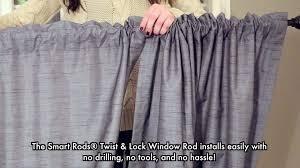 smart rods twist and lock curtain rod walmart com