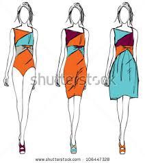 fashion sketch orange theme stock vector 106447328 shutterstock