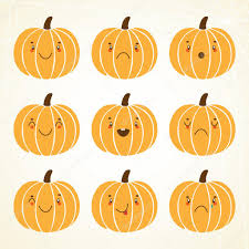 cute halloween pumpkin u2014 stock vector nenochka 12230851