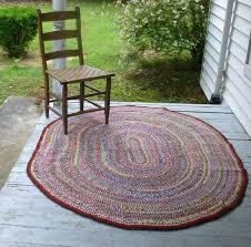 Handmade Rag Rugs For Sale Vintage Handmade Braided Rug Braided Rug Oval Rug By Atopdrawer