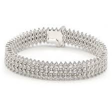 gold tennis bracelet diamonds images Wide diamond bracelet in white gold wixon jewelers jpg