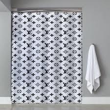 Curtains St Louis Inspired Logo Louis Vuitton Shower Curtain Ucaser Shower Curtain
