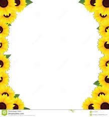 sunflowers frame borders stock vector illustration of concept