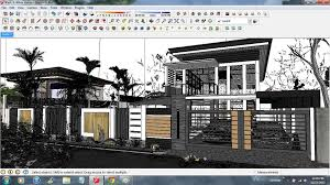 tutorial sketchup modeling sketchup texture vray tutorial exterior