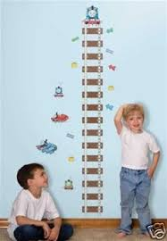 Thomas And Friends Decorations For Bedroom Railroad Crossing Growth Chart Decal Train Crossing Wall Decal