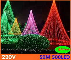 xmas lights for sale 50m 9 colors led string light 500 leds wedding partying xmas